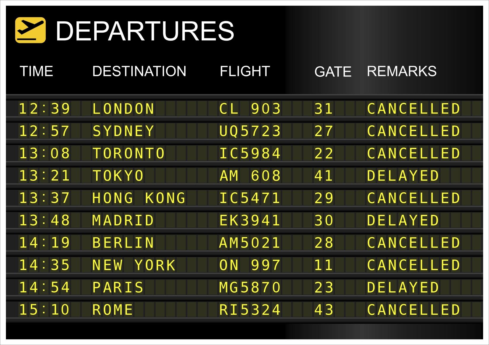 Votre vol est retardé ou annulé? Profitez en pour gagner de l'argent !